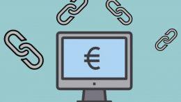 liens et sigle euros sur ordinateur